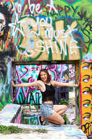Austin- Senior- Portraits- Graffiti Wall